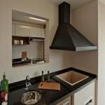 Detalhe da cozinha e churrasqueira