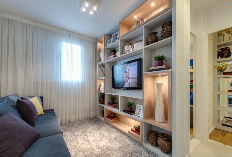 Home theater life moveis planejados for Modelos de apartamentos pequenos modernos