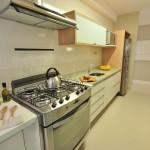 Armarios para fogão de embutir com caixa para geladeira