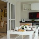Gabinete com portas e movel superior para churraqueira