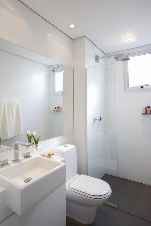 Banheiros  Life Moveis Planejados -> Banheiro Pequeno E Clean